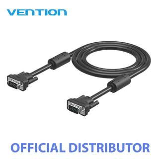 Vention 3+6 Gold Plated Male to Male VGA Cable 2M Black