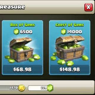 Selling Clash Of Clans Gems
