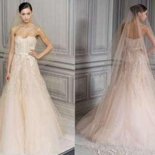 Monique Lhuillier Wedding Gown - Candy in Ivory