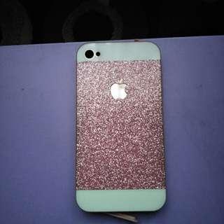 Case Iphone 4/4s Pink Glitter