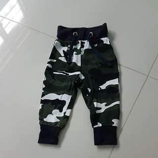 Camo long pants for babies / infants