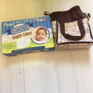 Pureen nappy liners & Naraya pouch
