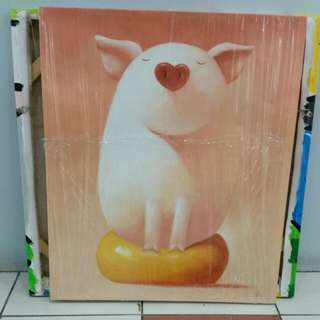 Canvas Painting with frame L50x60cm