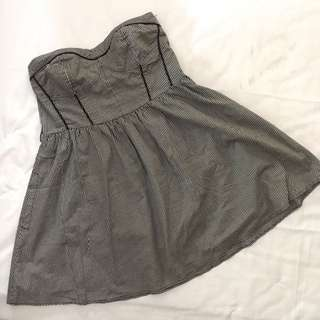 Zara tube plaid dress