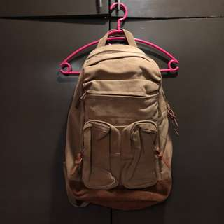 PRE-LOVED PULL AND BEAR CANVAS BACK PACK