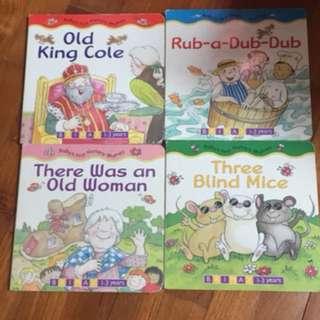 Pre-loved nursery rhymes books (4 books)