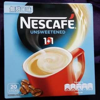 Nescafe 雀巢 1+1 即沖咖啡 無甜口味 一盒20小包 全新正版 (HKD$26/1盒,$50/2盒) 飲品 飲料 咖啡粉 Cafe Coffee