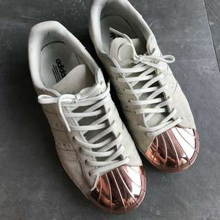 90% new adidas superstar metal toes sneakers