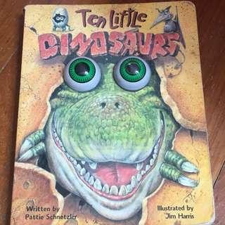 Pre-loved ten little dinosaurs book
