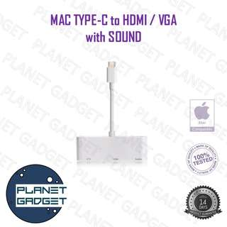 USB Type C to HDMI / VGA with Sound Adapter