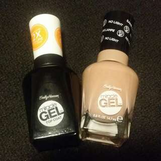 Sally Hansen Miracle Gel Top Coat and Frill Seeker