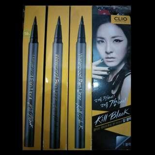 Authentic Clio Waterproof Kill Black Pen Liner