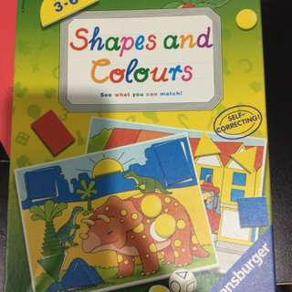 Pre-loved shapes and colours puzzle