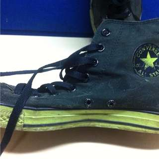 Converse Black Green CT High Limited Edition ORI