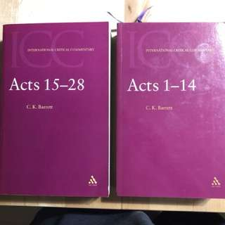 Barrett, C. K. A Critical and Exegetical Commentary on the Acts of the Apostles: In Two Volumes. Edinburgh: T & T Clark, 2004