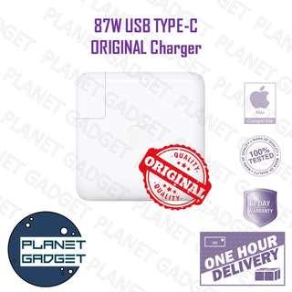 Original Apple Macbook 87W USB Type-C Charger and DC Line