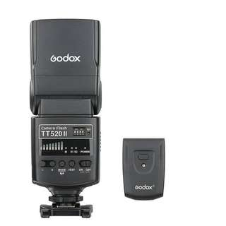 Godox Thinklite Camera Flash TT520II GN33 with Build-in 433MHz Wireless Transmission