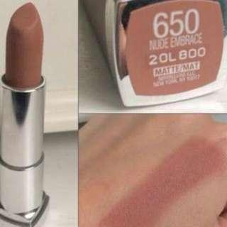 Maybeline matte nude lipstick