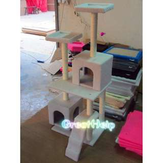 Cat Tree - 1.5 m Height Double Boxes