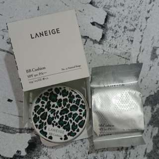 LANEIGE BB Cushion + Reffil Leopard Push Botton Edition