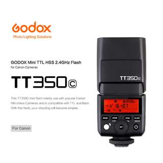 Godox TT350 Canon Camera Flash 2.4G TTL HSS Speedlite for Canon Camera 80D 7D 760D
