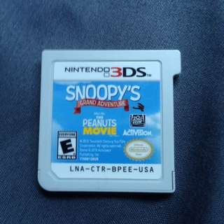 Snoopys grand adventure for the 3ds