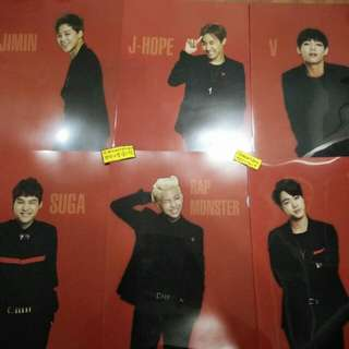 BTS OFFICIAL THE RED BULLET CLEAR FILE