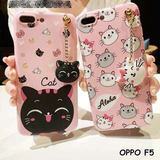 CUTE NEKO CAT HEAD SOFTCASE FOR OPPO F5/OPPO F5 YOUTH