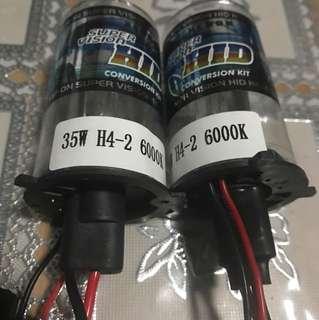 H4 Hid bulbs 6000k