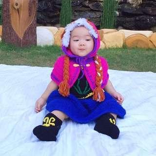 Princess anna queen elsa frozen costume
