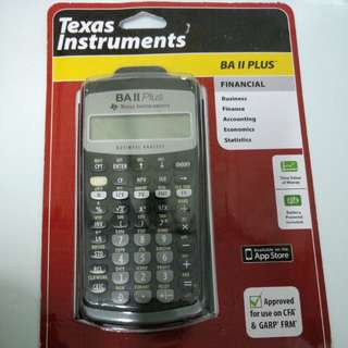 Financial calculator BAII plus全新 未拆包裝