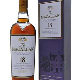 全新 舊版 1994 Macallan 18年 Single Malt Whisky 威士忌 響 山崎 余市 輕井澤 ichiro 羽生