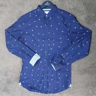 Brooksfield bird print casual shirt