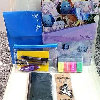 Stationeries set with free Emilia folder