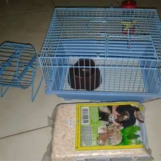 Hamster Cage with wheel and kusot