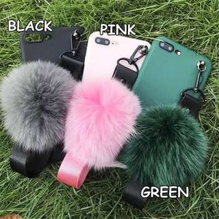 FASHION FUR BALL SOFTCASE FOR OPPO TYPES