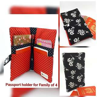 Passport Holder - Family of Four