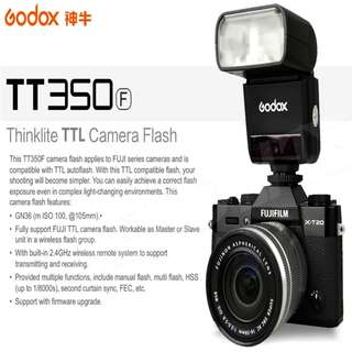 Godox TT350F 2.4G HSS 1/8000s TTL GN36 Camera Flash Speedlite for Fuji Cameras