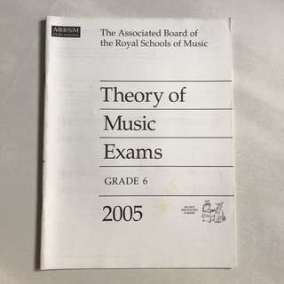 ABRSM theory of music exams grade 6 2005