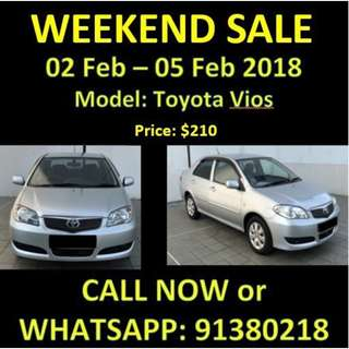 WEEKEND SALE Toyota Vios 2-5 Feb