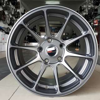 Velg racing HSR wheel XXR 527 R15X7.5 H5/114,3 semi matt grey