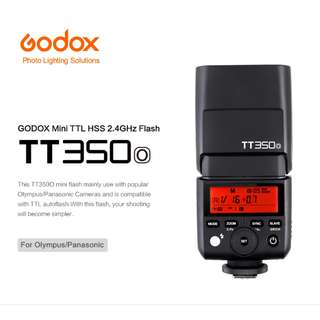 Godox TT350O Mini Thinklite TTL Flash for Olympus/Panasonic Cameras