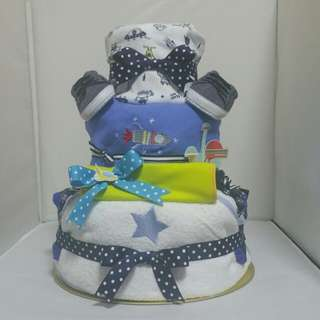 Diaper Cake- Sample for baby boy