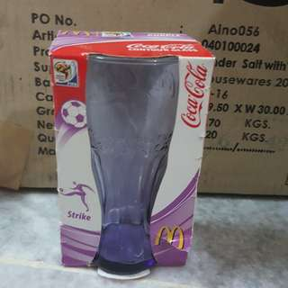McDonald's Coca Cola Glass 2010 edition Purple