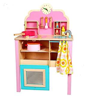 Onshine Pink Wooden Kitchen Set