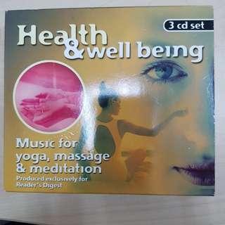 CD Music for Yoga, Massage & Meditation set of 3