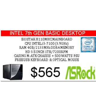 Intel 7 Gen Basic Desktop