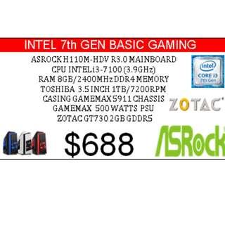 Intel 7 Gen Basic Gaming