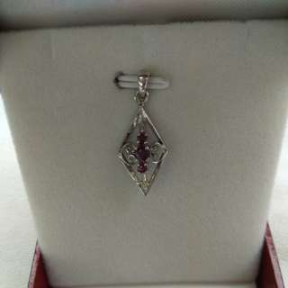 Ruby Pendent set with silver