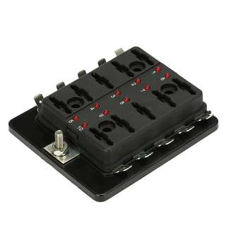 10 way fuse box (standard size fuse)